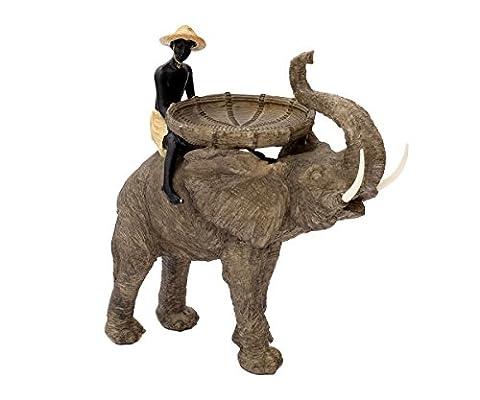 Große Dekofigur Junge Auf Elefant Dekoration Afrika Figur Safari Skulptur Garten Deko Kind Schale Statue Braun Schlüsselablage Dekoelefant Afrikanisch Brillibrum Flyer