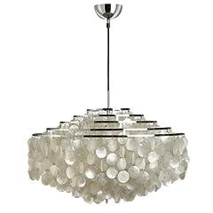 Idea Regalo - LivingEdition GmbH VerPan 11Dm 11530606001001 - Lampada da soffitto in metallo cromato e madreperla, Ø 70 cm, lunghezza cavo 400 cm