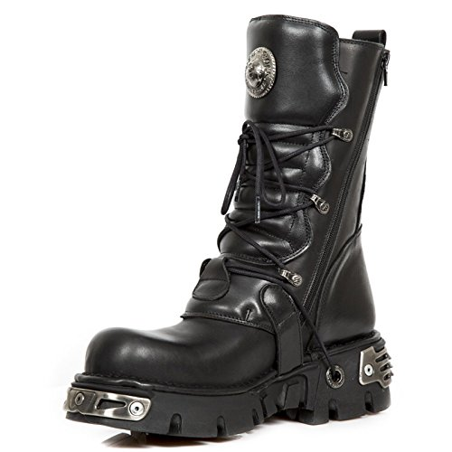 New Rock Boots 391, Skulls Black