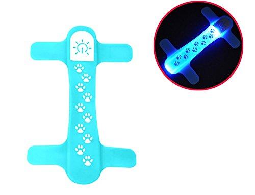 TDL - BRAND TDL-Marke Quick Connect LED-Haustier-Halsband-Silikon-Snaps auf vorhandenes Halsband von, Blau