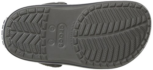 Crocs Crocband Clog K Smo/Navy, Zoccoli Unisex – Bambini Grigio (Smoke/Navy)