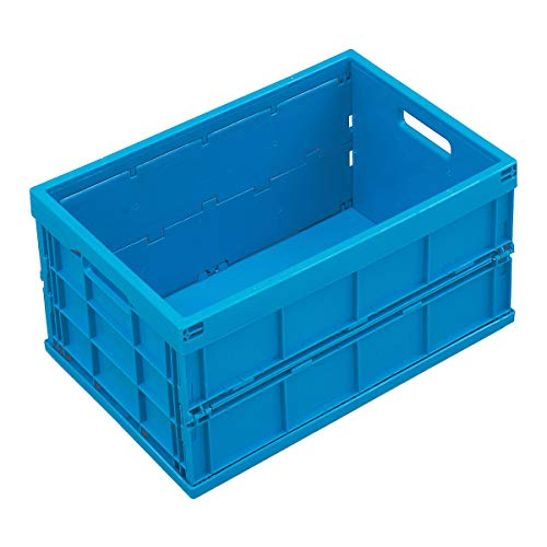 Polypropylen - Inhalt 40 l, ohne Deckel - blau - Faltbox Klappbox Lagerkasten Stapelkasten aus Kunststoff Transport-Behälter Transportkiste aus Kunststoff Stapelkisten ()