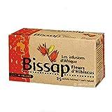 [ INFUSION 100% BISSAP ] Set di 2 scatole per infusione con Bissap | Fiori di ibisco o di Karkade | 100% naturale | 2 x 25 buste da 1,6 g