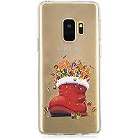 BONROY Samsung Galaxy S9 Hülle Transparente Schutzhülle Sketch Back Cover Case aus Silikon-(HX-Geschenkschuhe)