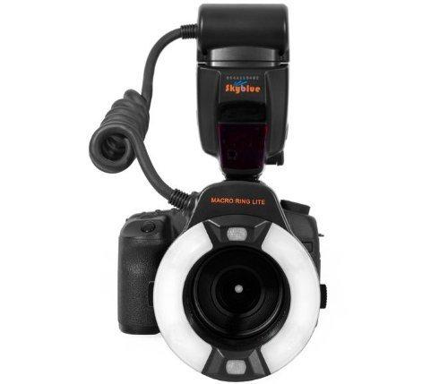 Khalia-Foto Meike MK-14EXT Makro E-TTL Ringblitz für Canon mit LED Hilfslicht