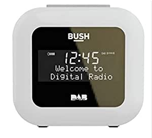 bush dab alarm clock radio white electronics. Black Bedroom Furniture Sets. Home Design Ideas