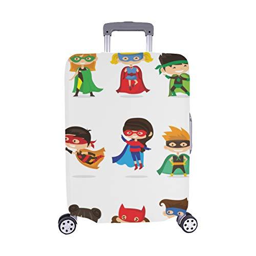 ((Nur abdecken) Cute Superhero Kids Pattern Staubschutz Trolley Protector case Reisegepäck Beschützer Koffer Abdeckung 28,5 X 20,5 Zoll)
