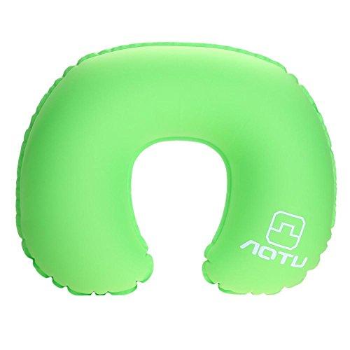 Homedics Handheld-massagegerät (Foru-1 Nackenkissen U-förmig, aufblasbar, für Reisen, Flugzeug, tragbares Schlafkissen grün)