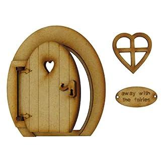 Kleine magische Öffnung Fairy Tür. Runde dreidimensionale Fairy Tür. Hölzerne Selbstmontage Handwerkskit