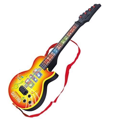 YVSoo Guitarra eléctrica para Niños, 4 Cuerdas Guitarra clásica Instrumentos Musicales Educativos Simulación Juguete Regalo (Amarillo)