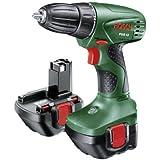 Bosch Perceuse-visseuse sans fil PSR 12 avec coffret, 2 batteries et chargeur 0603955501