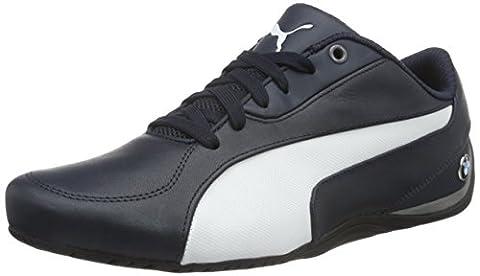 Puma Unisex Adults' Bmw Ms Drift Cat 5 Low-Top Sneakers, Blau (Team Blue-puma White 02), 9 UK