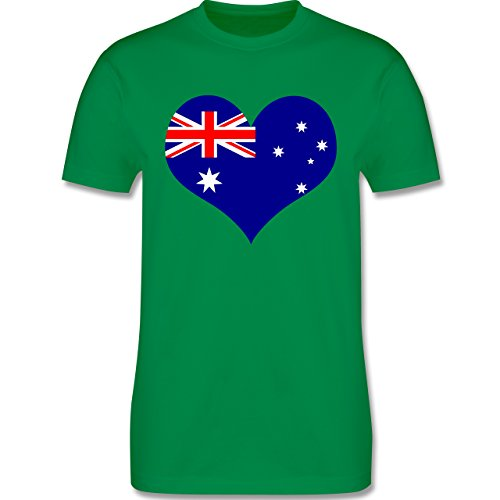 Länder - Herz Australien - Herren Premium T-Shirt Grün