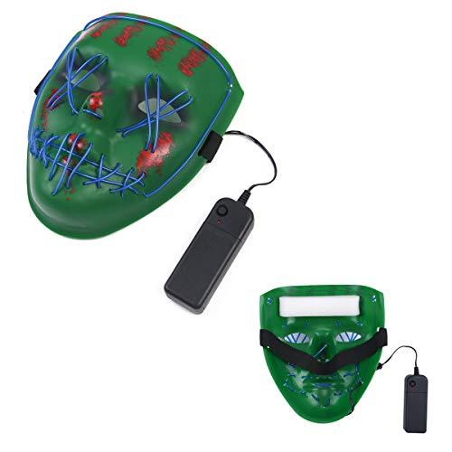 URAQT Mascaras de Halloween,  Máscara LED de Halloween,  El Led Mask de Accesorio para Halloween Cosplay ,  Craneo Esqueleto Mascaras,  Mascaras de Halloween de Terror