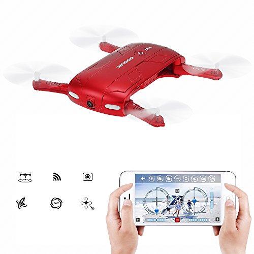 GoolRC T37 Drone con Cámara Wifi FPV HD Altitud G-sensor Hold plegable...