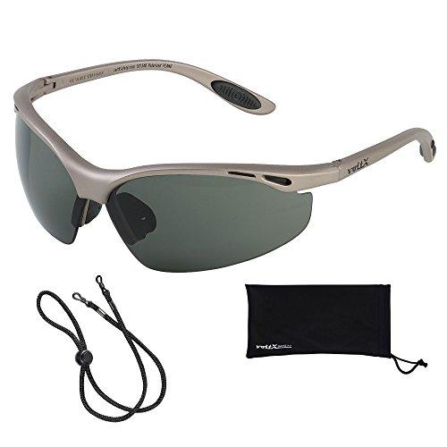 voltX 'Constructor' POLARISIERT Schutzbrille, CE EN166F Zertifiziert/Sportbrille für Radler (Keine Vergrößerung) - Polarized Safety Glasses
