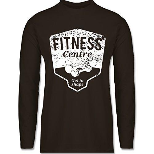 CrossFit & Workout - Fitness Centre - Longsleeve / langärmeliges T-Shirt für Herren Braun