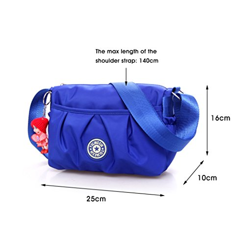 DINGHUI , Damen Schultertasche, violett (violett) - DHEB01-PURPLE blau