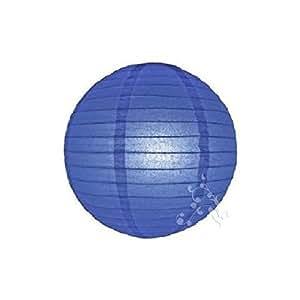 Hl - Lampion boule chinoise bleu marine 30 cm