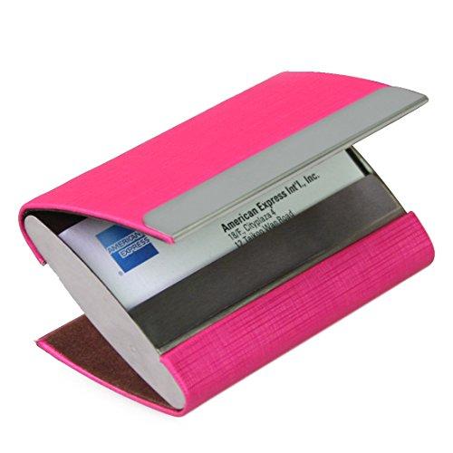 kilofly-business-card-holder-slot-di-archiviazione-2-scomparti-malachi-in-pelle-pu-rosso-red-taglia-
