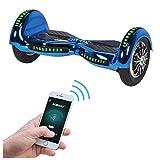 Actionbikes Motors Robway W3 Hoverboard - Das Original - Samsung Marken Akku - Self Balance - 21 Farben - Bluetooth - 2 x 400 Watt Motoren – App – LED (Blau Chrom)