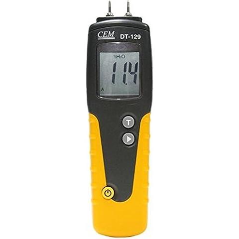 CEM DT-129 Display LCD Temperatura Wood Moisture Meter Legno e del tester di umidità del legno Gamma: 6% ~ 99.9%