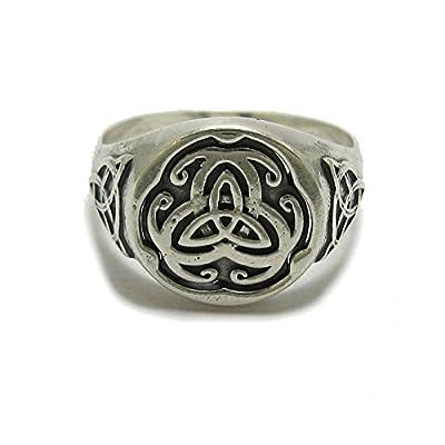 Bague homme celtique en argent sterling 925 Triskelion solide R001790
