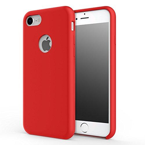 Custodia per iPhone 6s Plus case, Fairwell silicone Slim Fit antiurto gel gomma protettiva cover posteriore Soft Touch per Apple iPhone 6 Plus (2014) e iPhone 6s Plus (2015) (Rosso) 5.5