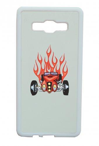 Smartphone Case V12Oldtimer Hotrod con fiamme rosse fuoco dell America Amy USA Auto Car lusso larghezza Bau V8V12Motore cerchione Tuning Mustang Cobra per Apple Iphone 4/4S, 5/5S,