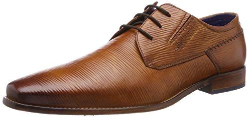 Bugatti 311697033900, Zapatos de Cordones Derby para Hombre, Marrón Cognac 6300, 40 EU