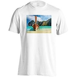 INNOGLEN Tailandia Thai Beach Travel El Mundo Camiseta de los Hombres b373m