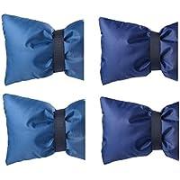 MagiDeal 4pcs Housse de Protection Thermique Couverture Robinet Jardin Gel Hiver Protection Bleu Marine Foncé