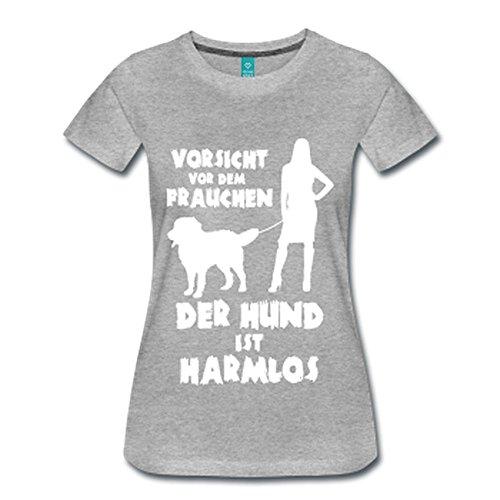 Berner Sennenhund: Vorsicht vor dem Frauchen – der HUND ist HARMLOS Grau Meliert