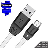 #8: Tukzer Premium Micro-USB to USB Cable V2.0 Fast Charging 2.4 Amp & Data Cable [1M/3.2ft - White]