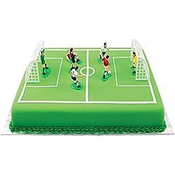PME FS009 Lot de 9 Décorations Football pour Gâteaux et Cupcakes, Plastique, Multicolore, 10 x 4 x 6,3 cm