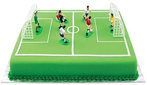 PME FS009 Fußball Topper für Kuchen und Cupcakes 9er Set, Kunststoff, Multicolored, 10 x 4 x 6.3 cm