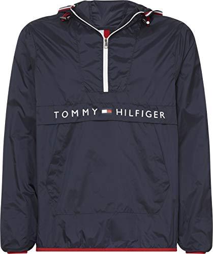 Tommy Hilfiger Herren Regenmantel Ultra Light Packable Anorak Blau (Sky Captain 403) Medium (Herstellergröße: M)