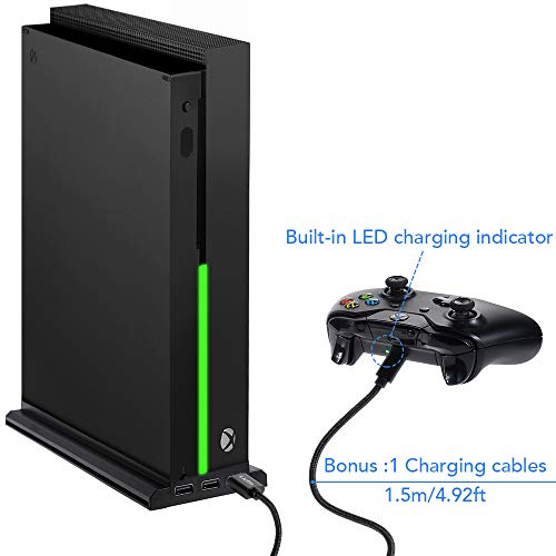 Lictin Xbox One X Vertical Stand - Xbox One X Cooling Fan with 3 USB