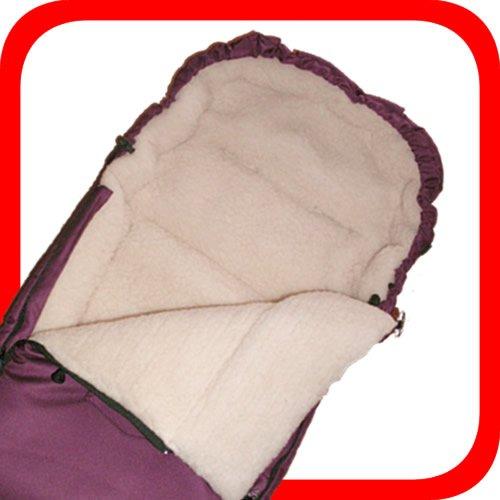Baby Universal Fußsack, 100% Lammwolle, dunkelrot -