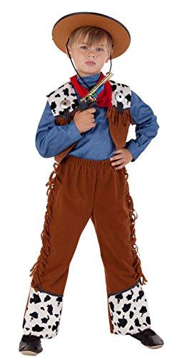Magicoo Komplettes Western Cowboy Kostüm Kinder - Cowboy Kostüm Jungen Wilder Westen Fasching Karneval - Cowboy Kostüm Für Jungen