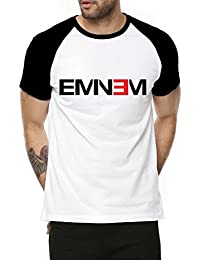 Fanideaz Cotton Eminem Music Half Sleeve Raglan T Shirt For Men