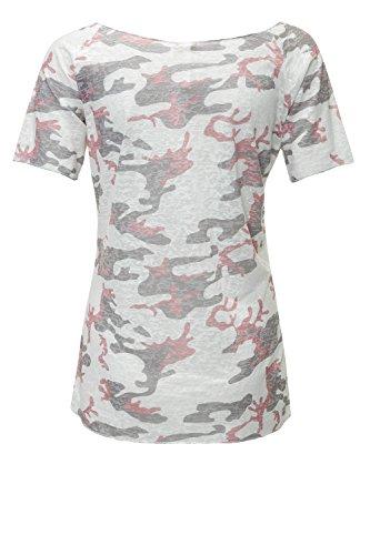 Key Largo Damen T-Shirt Kurzarmshirt Shirt Print Offwhite/Rosewood