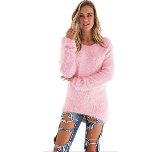 kolylong-womens-casual-warm-solid-long-sleeve-jumper-sweaters-blouse-m-pink