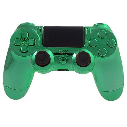 Chrom Spiegel Stehen (PS4 Controllergehäuse für Dualshock 4 Controller inkl. Mod Kit - Chrom Grün)