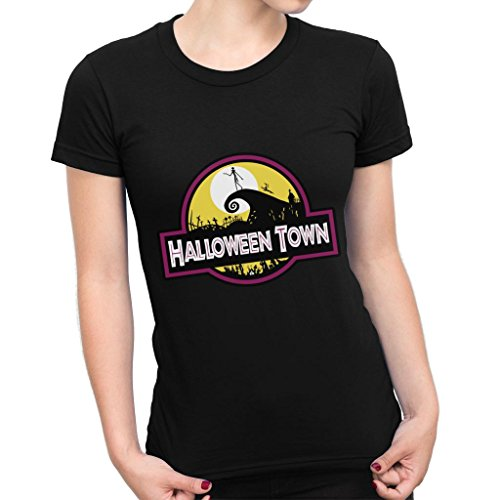 Halloween Town Nightmare Before Christmas Park Women's T-Shirt (Halloweentown Nightmare Before Christmas)