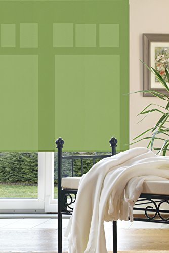 Liedeco Rollo, Fenster Rollo, Kettenzug-Rollo / 182 x 180 cm (Breite x Höhe), hellgrün / lichtdurchlässig, blickdicht / viele Farben, Größen und Typen / Breiten 60-200 cm / variable Montage möglich / Hergestellt in Deutschland