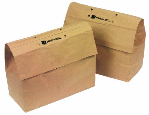 Rexel sacchetti riciclabili per distruggidocumenti, capacità 32l, pacco da 20, per distruggidocumenti rexel auto+ 200, 1765031eu