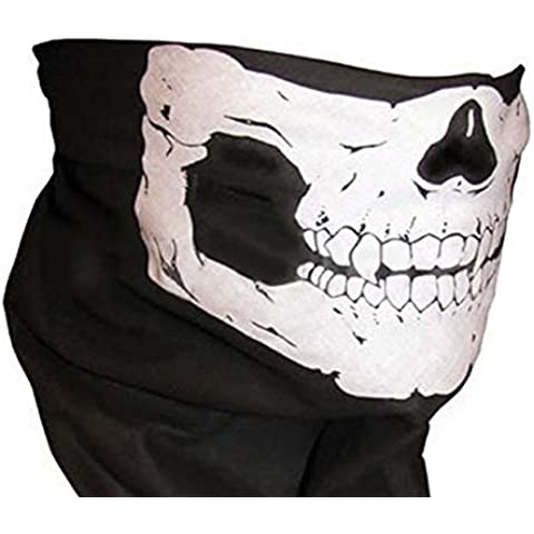 Ghost Skull Face Mask Cosplay Hood Cod Costume Biker Halloween Balaclava Skateboard Call of Duty by