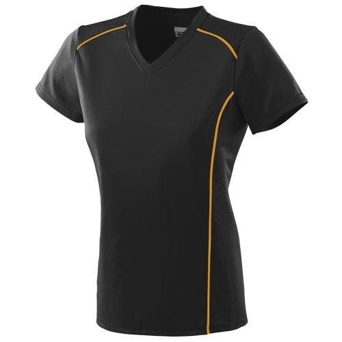 Augusta Damen T-Shirt Medium Mehrfarbig - schwarz / gold (Augusta Jersey T-shirt)