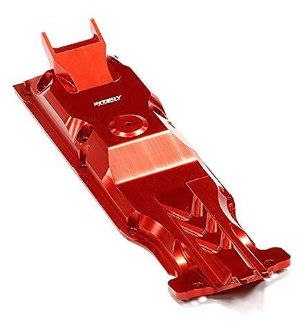 Integy RC Model Hop-ups T4112RED Evolution-6 Billet Machined Alloy Center Skid Plate for Traxxas 1/10 E-Revo